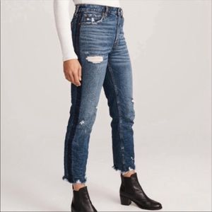 Abercrombie Simone Jean high rise ankle straight 4